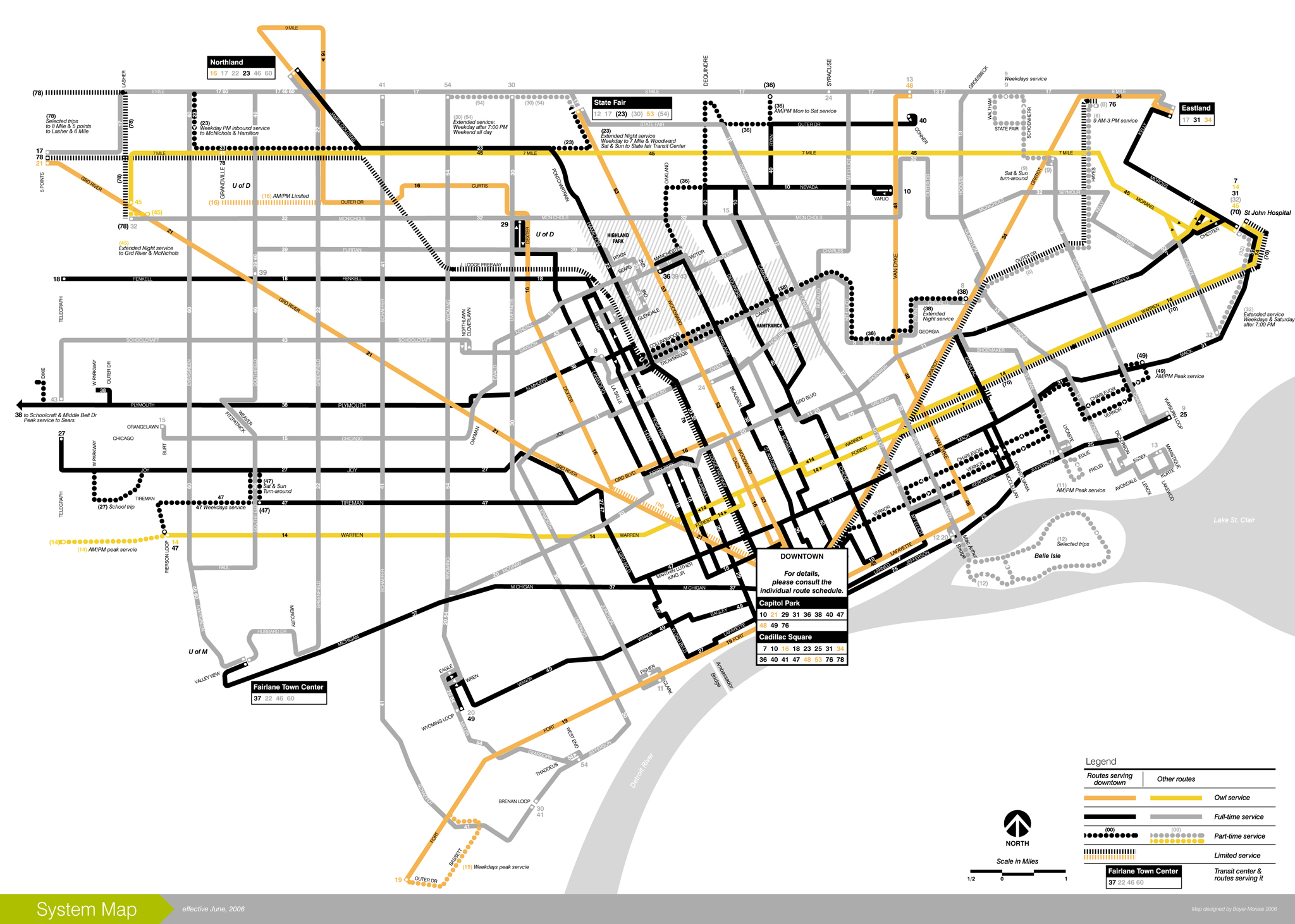 Discuss Detroit DDOT and SMART full system map